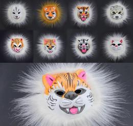 Lion masks online shopping - EVA Plush Animal Mask Adults Child Full Face Mask Lion Tiger Fox Carnaval Horror Cosplay Masquerade Masks Prank