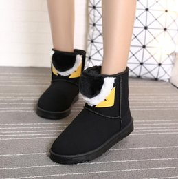 $enCountryForm.capitalKeyWord Australia - Top selling Fashion Cartoon lovers style Snow boots Splicing winter Non-slip Keep warm boots for Women's Big cotton Shoes size 35-40