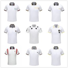 Venta al por mayor de 19ss Luxury Italy Tee Camiseta Diseñador Polo Camisas High Street Bordado Liga Serpientes Little Bee Impresión Ropa Hombre Marca Polo