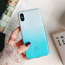 $enCountryForm.capitalKeyWord NZ - Gradient Colors Anti Shock Airbag Soft Clear Cases for IPhone X XR XS MAX 8 7 Plus 6 6S Plus I Phone 8plus Transparent Slim Back Cover