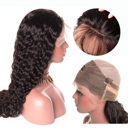 """Water Waves Human Hair Australia - Water Wave Virgin Human Hair Lace Front Wigs 150% Density Brazilian Water Wave Lace Wig Wet And Wavy 13x6 Lace Frontal 10""""-26"""""""