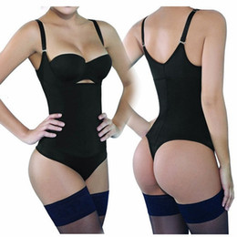 Sexy full body Shapewear online shopping - Sexy Thong Bodysuit Latex Waist Trainer Shapewear Slimming Underwear Corset Women Modeling Strap Full Body Shaper Butt LifterMX190929
