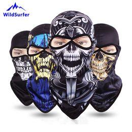 Riding Skull Cap Australia - WildSurfer Cycling Face Mask 3D Animal Skull Moto Balaclava CS Helmet Quick Dry Riding Caps Breathable Hat Bike Shield Hood FJ52