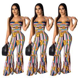 $enCountryForm.capitalKeyWord Australia - Women Summer Sleeveless Jumpsuit Mid-waist Gothic Pleated Sling Sexy Casual Trumpet Jumpsuit Slash Collar Elasticity