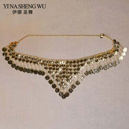 gold metal chain belt Australia - Dancer's Coin Waist Belt Triangle Belly Dance Waist Chain Belt Ornament Oriental Dance Chain Metal Coin Belly