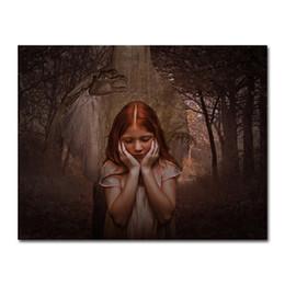 $enCountryForm.capitalKeyWord Australia - Forest Horror Girl 5d Diy Diamond Painting Photo Full Square Resin Diamond Embroidery Cross Stitch Set Mosaic Handmade Gift Decoration