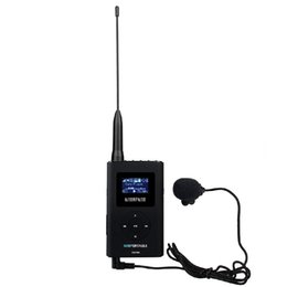 $enCountryForm.capitalKeyWord Australia - Portable FM Transmitter Tour Guide System Support AUX Input Music Transmitter for Church Translation with 8GB Memory Card r25