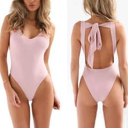e9ebfd8c10c Women s Jumpsuit Bodysuit Stretch Lady Leotard Body Tops shirt Playsuit  Halter Backless Pure Color Sunsuit