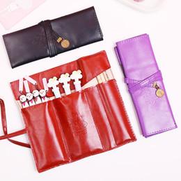 $enCountryForm.capitalKeyWord Australia - Retro leather pencil bag, roll pen bag, cosmetic stationery multi-functional stationery bag