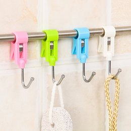 Clothes Laundry Folder Australia - clamp hook Clothes Hooks Peg laundry folder Hanging Clothes Rails Clips Clothespins Socks Underwear Drying Rack organizer