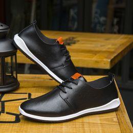 $enCountryForm.capitalKeyWord Australia - Men Shoes Sreathable Microfiber Leather Casual Shoes Business Men Shoes Pure Color Comfortable Summer Fashion
