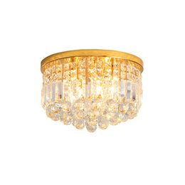 $enCountryForm.capitalKeyWord Australia - Modern minimalist creative led crystal chandelier lights attractive corridor aisle lamps gold ceiling plate ceiling porch warm lightings