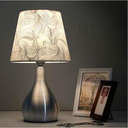 Lights & Lighting Modern Simple Iron Table Lamp Living Room For Bedroom Bedside Study Reading Desk Lamp 110v-240v E27 Green Purple Flower Light