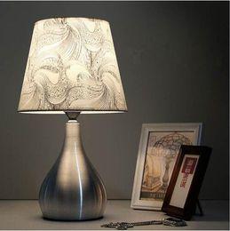 Silver Bedside Tables Australia - Modern Fashion 110V-240V Aluminum Modern Table Desk Lamp LED Bedside Lamp Table Lamps For Bedroom Living Room Light