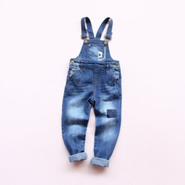 $enCountryForm.capitalKeyWord Australia - New Spring Baby Boys Girls Denim Overalls Jeans Kids Denim Jumpsuit Child Spring Autumn Long Pants High Quality Jeans