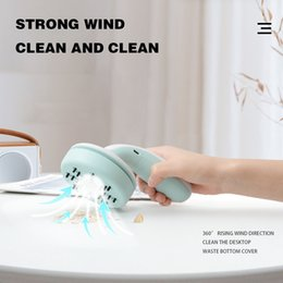 desktop vacuum cleaners NZ - Mini Car Pet Hair suction Device Desktop Keyboard Handheld Vacuum Cleaner Strong Strong wind and clean simple and convient #BE