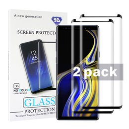 $enCountryForm.capitalKeyWord Australia - 2 Pack Case Friendly Small version For Samsung Galaxy Note 10 9 8 S9 S8 Plus S7 S6 Edge Tempered Glass 3D Curve Edge HD Screen Protector