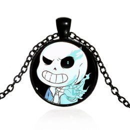 $enCountryForm.capitalKeyWord Canada - Cross-border hot sale game Undertale Sans pattern time gemstone necklace Coarse glass alloy pendant necklace Gift for game lovers