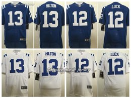 ae4939545 Men Indianapolis 2019 Colts Jersey 13 T.Y. Hilton 12 Andrew Luck Stitching  Elite Jerseys Size M-4XL
