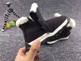 cute girls high heels shoes 2019 - 2020 Top Winter keep warm Kids teeth snow boots cowhide Ankle for children Authentic Cute girls and boys snowboots unise