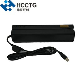 Wholesale Hi-Co & Lo-Co USB 1&2& 3 Tracks Magnetic Stripe Card Reader Writer complied with ISO Formats MSR606
