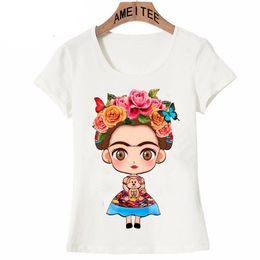 Frida Kahlo Tees Australia - 2019 Frida Kahlo Cute Cartoon Art T Shirt Summer Cute Women T Shirt New Design Tops Girl T -Shirt Ladies Casual Tees