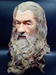 Figure Bust Australia - [TOP] Bust Statue Color Painted Rings Hobbit The Gandalf model Figure Collection Craft Sculpture home Room decoration toy gift