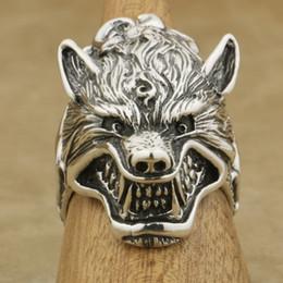 $enCountryForm.capitalKeyWord Australia - Personality 316L Stainless Steel Wolf Rings Huge Heavy Mens Biker Ring Vintage Amulet Jewelry Rings for Men Size 7-14