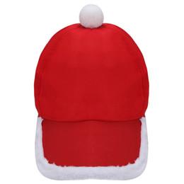 Nuovo Babbo Natale peluche cappello di Natale Sport Cap Xmas Accessori Cappelli Party Free Size Polyester Festive Atmosfera Decor 10Nov 29 in Offerta