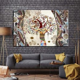 gustav klimt paintings NZ - Famous Prints on Painting The Tree of Life by Gustav Klimt for Art silk furniture bar family wall decoration sale popular poster
