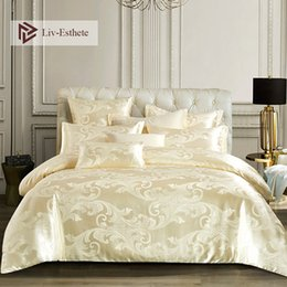 $enCountryForm.capitalKeyWord UK - Liv-Esthete 2019 Luxury Euro Jacquard Palace Bedding Set Double Adult Bedspread Flat Sheet Decorative Bed Linen Set Home Textile
