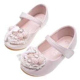 d701e50894 Velcro wedding dress online-Chica floral princesa zapatos perla niños  zapatos Moda niñas zapatos Niños