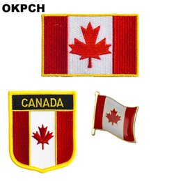 $enCountryForm.capitalKeyWord NZ - Canada flag patch badge 3pcs a Set Patches for Clothing DIY Decoration PT0083-3