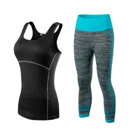 $enCountryForm.capitalKeyWord Australia - Fnmm Quick Dry Sportswear Gym Leggings Female T-shirt Costume Fitness Tights Sport Suit Green Top Yoga Set Women's Tracksuit Y190508