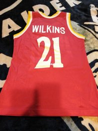$enCountryForm.capitalKeyWord Australia - Dominique Wilkins #21 Red Champion Jersey Excellent Condition Mens Vest Size XS-6XL Stitched basketball Jerseys Ncaa