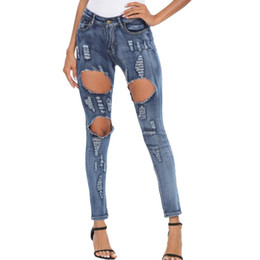 women s skinny jeans Australia - Womail 2020 Ripped Jeans Women Denim Slim Elasticity Skinny Pants Vintage boyfriend jeans for women spodnie damskie jeansy