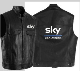 Dark Cycles NZ - Fashion sky pro cycling leather vest black motorcycle hip hop leather vest men's sleeveless jacket