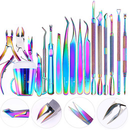 $enCountryForm.capitalKeyWord Australia - uticle Scissors BORN PRETTY Nail Clipper Cutter Stainless Steel Rainbow Tweezer Clipper Dead Skin Remover Edge Cutter Scissor Plier Manic...