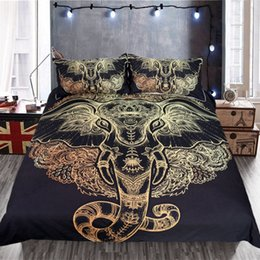 elephant bedding Australia - 3Pcs Gold Elephant 3D Bedding Sets Duvet Cover Pillow Case Twin Full Queen King Size Quilt Set Adult Double Bedding