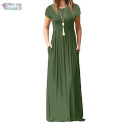 plus size maxi dress xxl Australia - Size Long Dress Plus Xxl Solid Summer Maxi Short Sleeve Solid Casual Dresses Femme Dress O Neck Long Designer Clothes