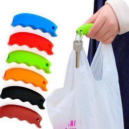 handle baskets wholesale UK - Silicone Handle Repeatable Candy color Comfortable Grip Effort-Save Body Mechanics Grips Shopping Bag Basket Carrier Bag Holder CLS523