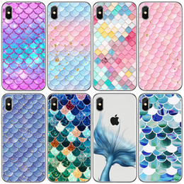 $enCountryForm.capitalKeyWord NZ - ins Hot Shining Cellphone Cases for iPhone X Universal Fishscale Series Soft Shell Cellphone Case for Samsung S8 Painted Cell Phone Shell