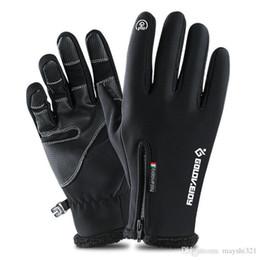 Опт Снежные спортивные лыжные перчатки с сенсорным экраном водонепроницаемый лыжный лямбинг защитная шестерня зимние велосипедные перчатки защита от ветра для мужчин и женщин