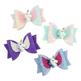 $enCountryForm.capitalKeyWord Australia - Free DHL Shipping Unicorn Horse Girls Hair Clips Sequins FloraL Bows kids designer Hair Accessories Cartoon Fish Barrettes Hair Sticks