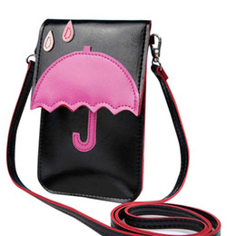 China Cheap Fashion 2019 New Summer Women Messenger Bags Ladies Cat Umbrella Shoulder Cartoon Touch Screen Mobile Designer Crossbody Bag suppliers