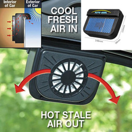 Free Cooling Fan Australia - 2018 Solar Powered Car Window Windshield Auto Air Vent Cooling Fan Cooler Radiator Fast Free Shipping