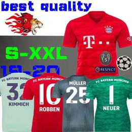 4b80a863b0d 19 20 Bayern Munich Soccer jersey AWAY home 2019 2020 camiseta de futbol  LEWANDOWSKI MULLER TOLISSO Kimmich shirts Goalkeeper NEUER