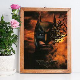 Batman Art Prints Australia - Batman Begins Nordic Marvel Movie DC Art Canvas Poster Wall Picture Print Picture For Home Office Bedroom Decoration