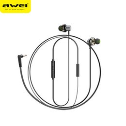 $enCountryForm.capitalKeyWord Australia - AWEI with new products Z1 double moving ring in-ear mobile phone headset magnetic bass subwoofer universal wire control metal earphone