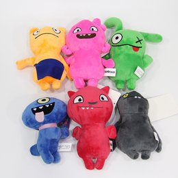 old movie decorations UK - 6 Styles Uglydoll Plush Doll Pendant 12cm Cartoon Movie Cute Doll Toys Bag Pendant Kids Gift Home Decoration L427